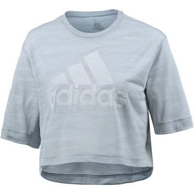 adidas Box Crop T-Shirt Damen white/clear onix