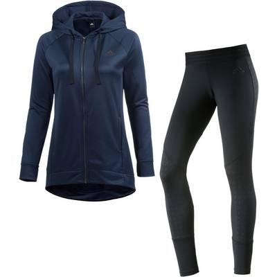 adidas Trainingsanzug Damen navy/schwarz