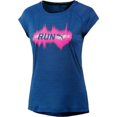 PUMA Run Laufshirt Damen blau