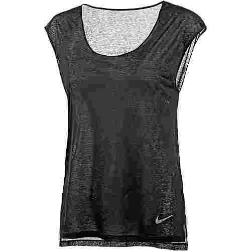 Nike Breathe Cool Laufshirt Damen schwarz