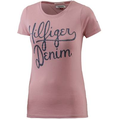 tommy hilfiger t shirt damen rosa im online shop von. Black Bedroom Furniture Sets. Home Design Ideas