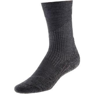 Falke Stabilizing Wool Kompressionsstrümpfe Herren asphalt melange