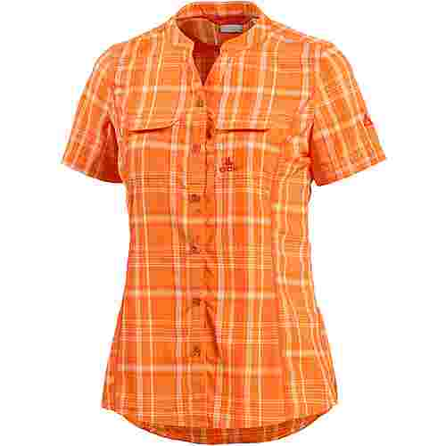 OCK Funktionsbluse Damen orange/weiß/kariert