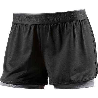 Under Armour Heatgear Funktionsshorts Damen schwarz/grau