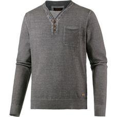 M.O.D V-Pullover Herren grau washed