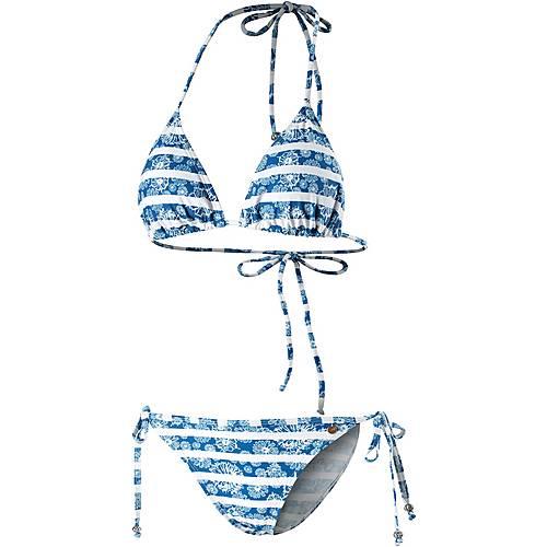 Maui Wowie Coloured Tribe Triangelbikini Damen blau/weiß