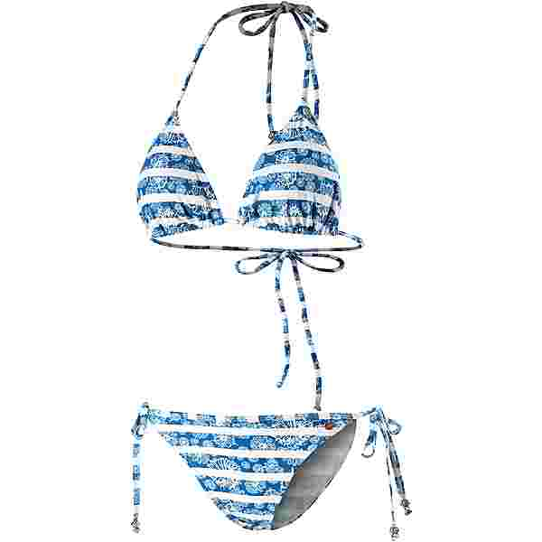 Maui Wowie Coloured Tribe Bikini Set Damen blau-weiß