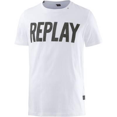 REPLAY T-Shirt Herren weiß