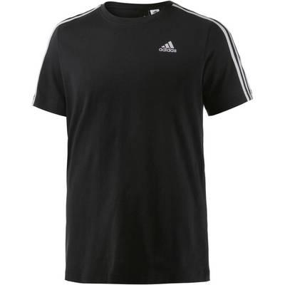 adidas Essential 3S T-Shirt Herren schwarz