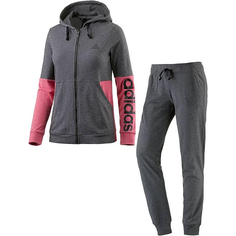 adidas trainingsanzug damen grau pink