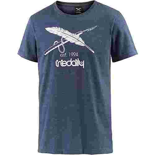 iriedaily Harpoon Flag T-Shirt Herren navy melange