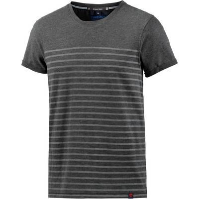 TIMEZONE T-Shirt Herren anthrazit gestreift