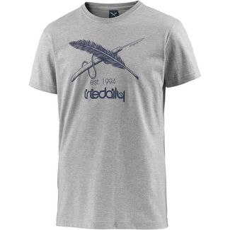 iriedaily Harpoon Flag T-Shirt Herren grey melange