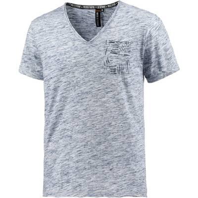 M.O.D V-Shirt Herren blau melange