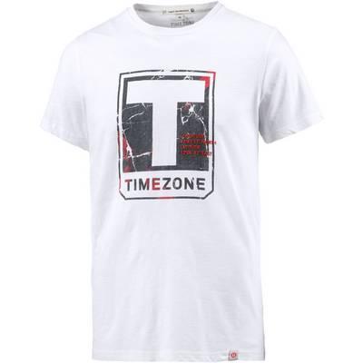 TIMEZONE Printshirt Herren weiß washed