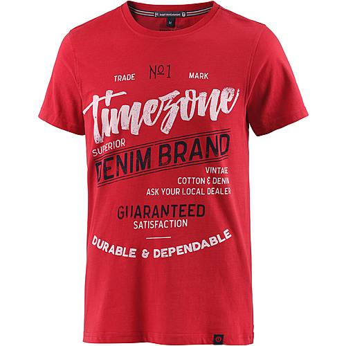 TIMEZONE Printshirt Herren rot