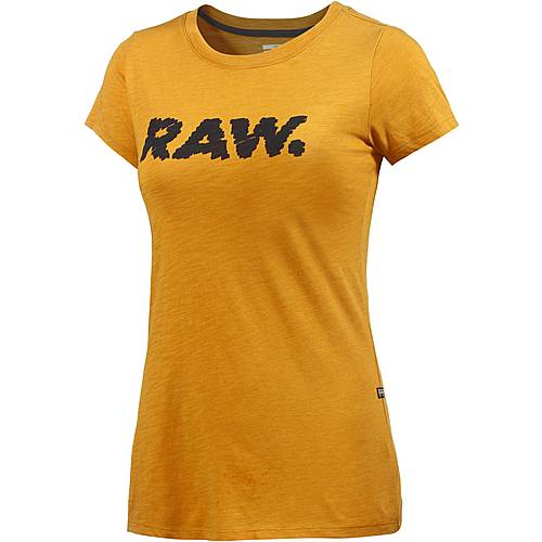 G-Star T-Shirt Damen ocker