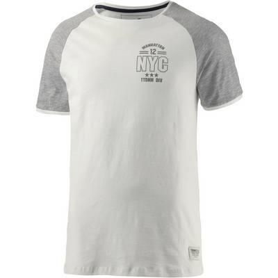 TOM TAILOR T-Shirt Herren weiß/grau