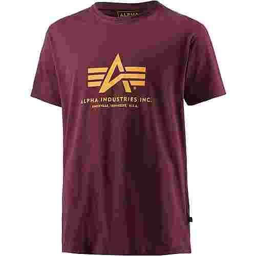 Alpha Industries T-Shirt Herren bordeaux