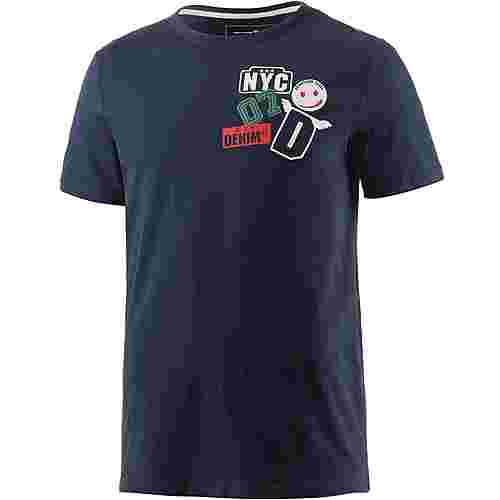 TOM TAILOR Printshirt Herren navy