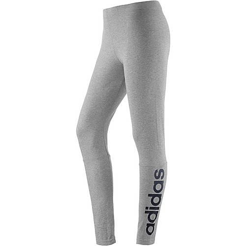 adidas Essentials Leggings Damen hellgrau/melange