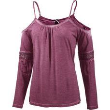 Mogul Langarmshirt Damen pink washed