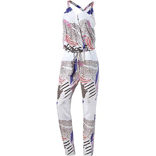 Bench Jumpsuit Damen weiß/bunt