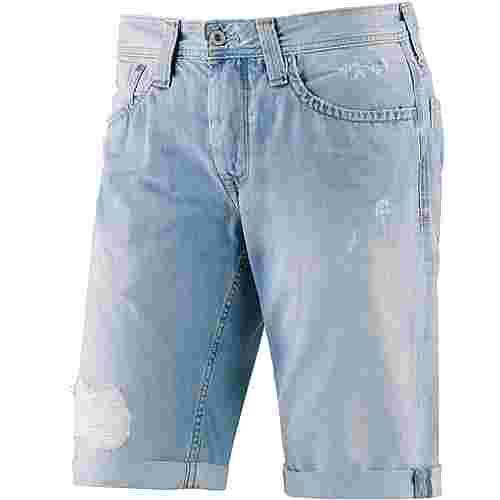 Pepe Jeans Cash Jeansshorts Herren destroyed denim
