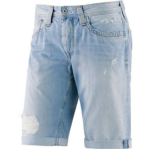 Pepe Jeans Cash Jeansshorts Herren destroyed denim