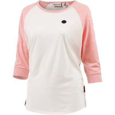 Naketano Langarmshirt Damen weiß/rosa