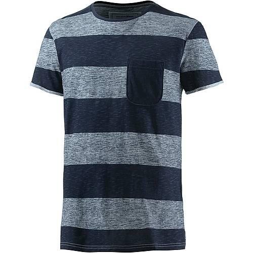 TOM TAILOR T-Shirt Herren navy/weiß