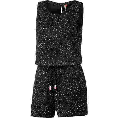 Ragwear Jumpsuit Damen schwarz gepunktet