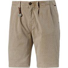 Khujo Shorts Herren beige gepunktet
