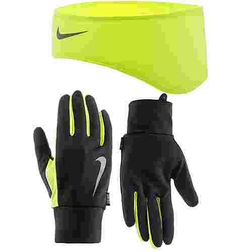 Nike Set Stirnband und Handschuhe Herren schwarz/neongelb