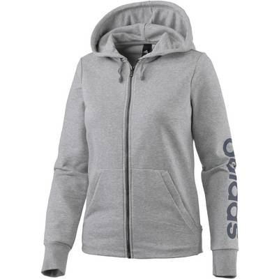 adidas Essentials Sweatjacke Damen grau/melange