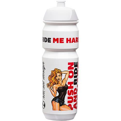 riesel design fla:sche 750 ml Trinkflasche weiß/rot