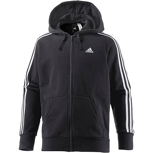 adidas ess 3s sweatjacke herren schwarz im online shop von. Black Bedroom Furniture Sets. Home Design Ideas