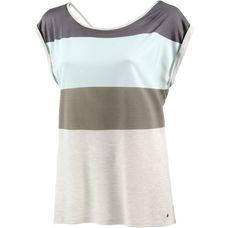 Khujo Oversize Shirt Damen beige gestreift