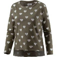 Only Sweatshirt Damen oliv