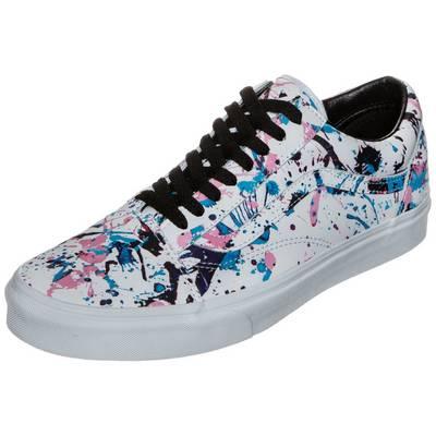 Vans Old Skool Paint Splatter Sneaker weiß / bunt