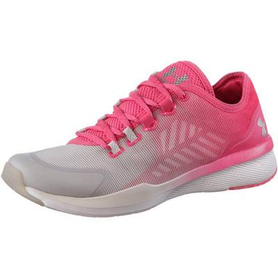Under Armour Charged Push TR Fitnessschuhe Damen rot/hellgrau