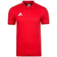adidas Tiro 17 Poloshirt Herren rot / schwarz