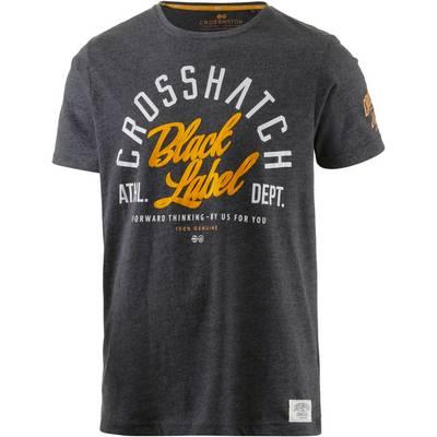 Crosshatch Printshirt Herren anthrazit melange
