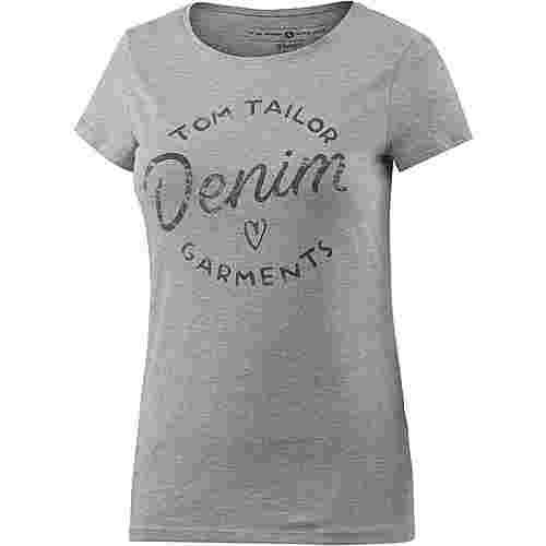 TOM TAILOR T-Shirt Damen graumelange
