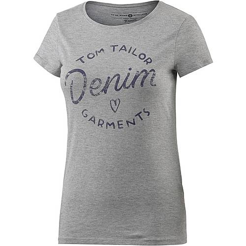 TOM TAILOR T-Shirt Damen graumelange