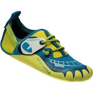 La Sportiva Gripit Kletterschuhe Kinder grün/blau
