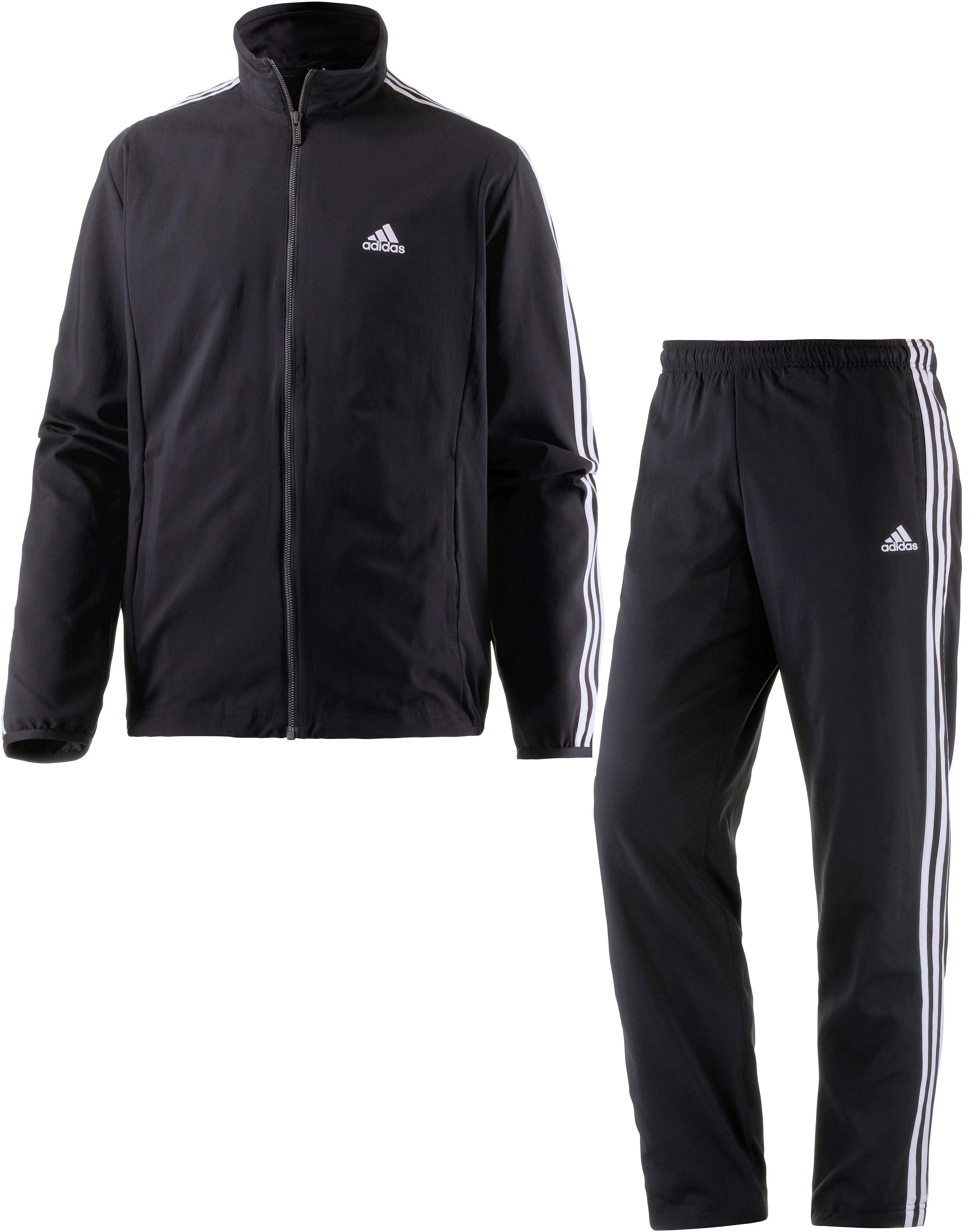 trainingsanzug schwarz adidas
