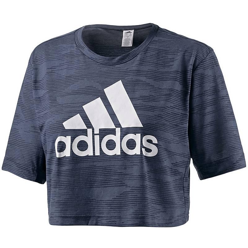 adidas t shirt damen grau weiß
