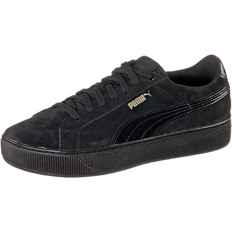puma damen platform sneakers schwarz