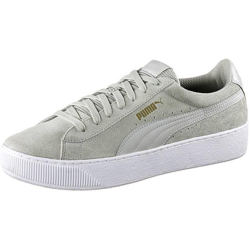 puma damen platform sneakers grau